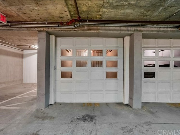 Private garage with opener.