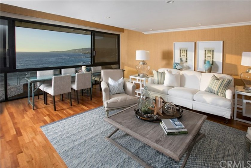 LIVING ROOM OPENS UP TO NORTH COAST OCEAN VIEWS