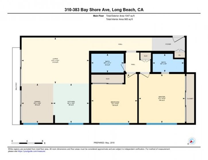 Floor Plan of Unit 310 at Sea Isle Landing. Room measurements are 99.6% confident. Be sure to see the iGuide virtual tour of this property by clicking on the filmstrip icon under the photos.