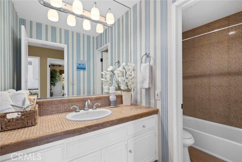2nd Bathroom with artisan tile