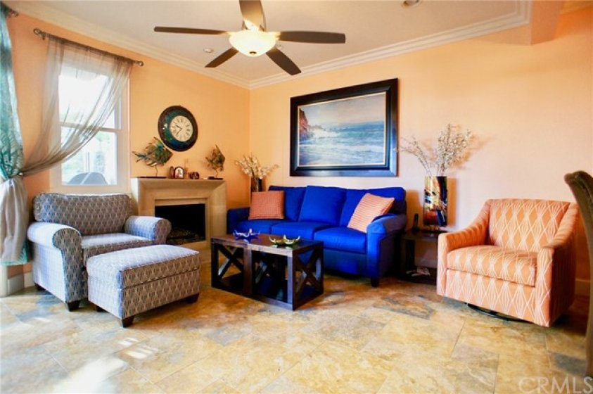 """Plenty of Living Room space. Slider leads to patio with """"Peek a Boo"""" ocean view. Move in Ready."""