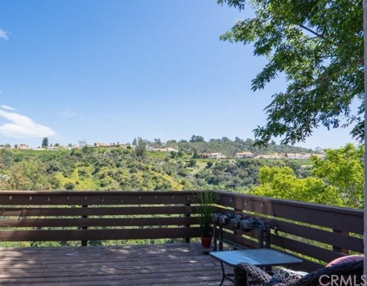 Incredible views from the private deck, living room, and master bedroom.