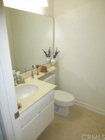 Powder room half bath lower level