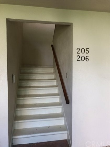 Entrance Stairs. Only one other unit (206) shares these stairs.