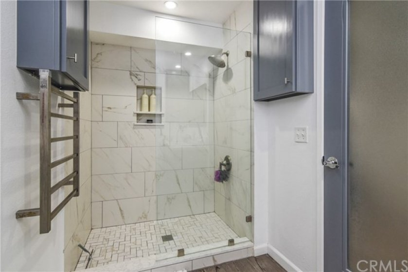Custom walk-in Shower with custom features