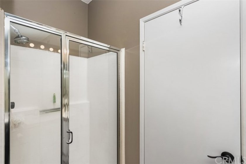 Guest bath with shower and glass enclosure