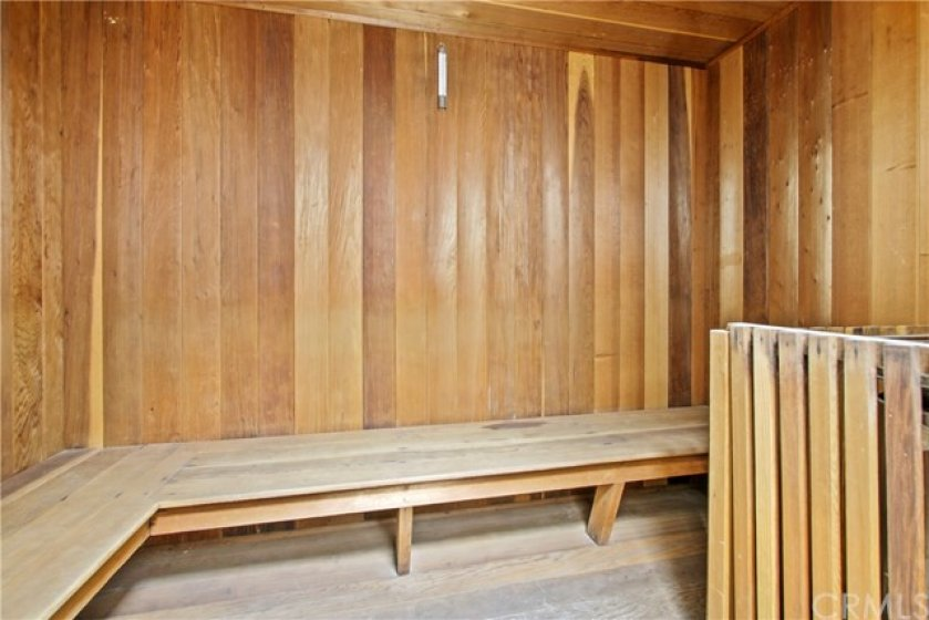 Sauna located off Meeting / Rec room