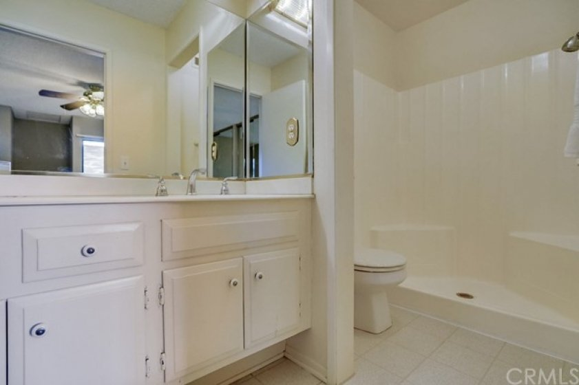 Main master bathroom is mostly original but clean and well maintained