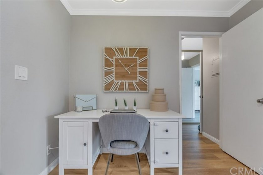 Entry Way used as office area.   Perfect for working from home