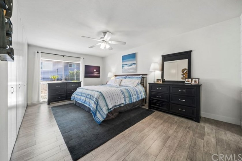 Very large master bedroom with an over-sized closet.