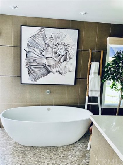 LARGE VICTORIA and ALBERT STAND ALONE TUB in MASTER BATH