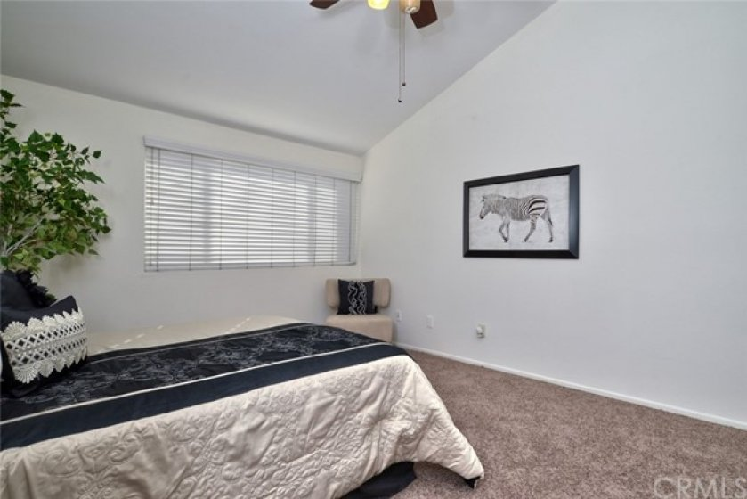 Another view of the master suite shows that there is abundant wall space for dressers, entertainment centers, etc.