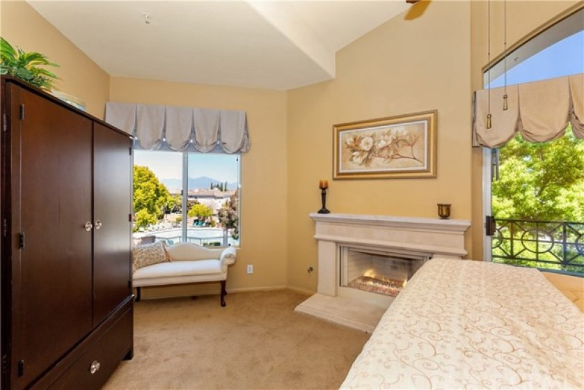 Gracious master suite large and open with a great views and private access to the deck.