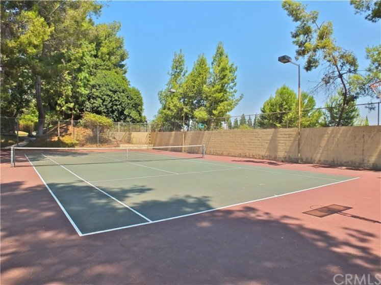 2 separate tennis courts