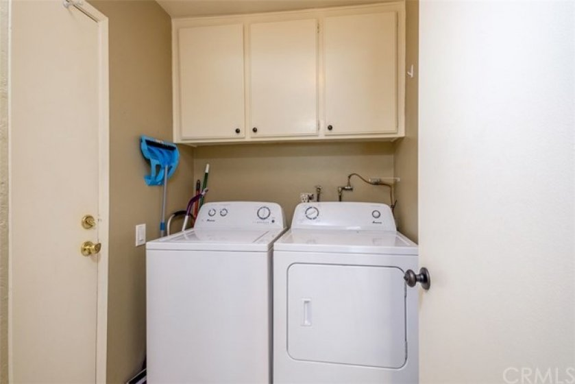Laundry area off of kitchen!
