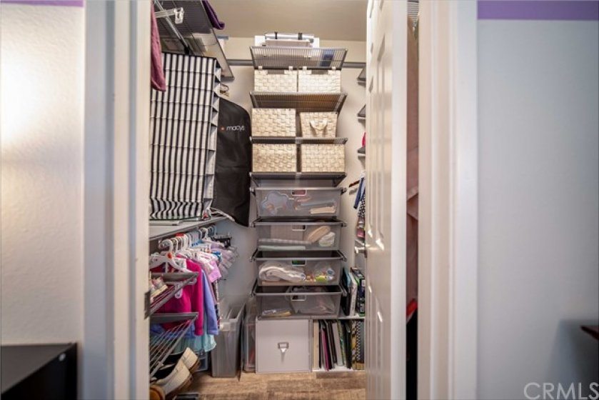 Second bedroom walk-in closet with lots of storage