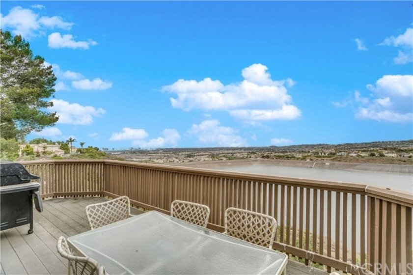 Spacious deck off of the Living room with gorgeous view