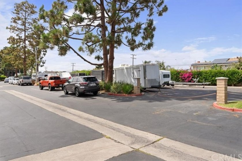 RV and boat parking within the community