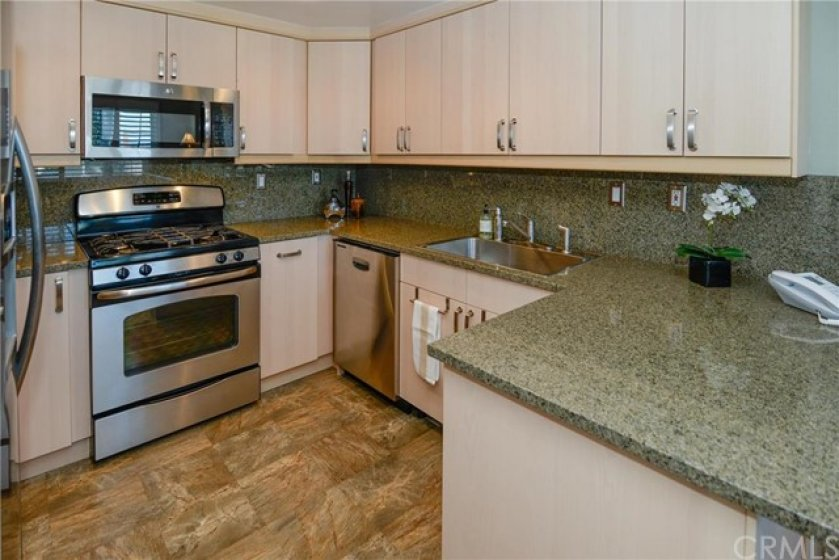 Upgraded kitchen showing decorator perfection.