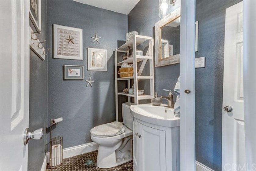 Remodeled main-level powder room