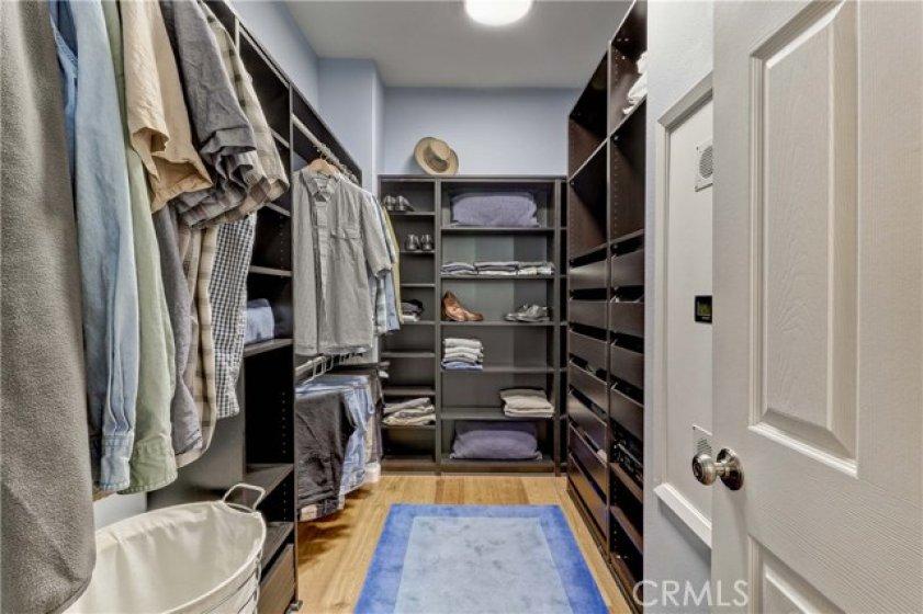 Super Organized Master BR Walk-in Closet. Has Pull-Down Attic/Storage Access Too!