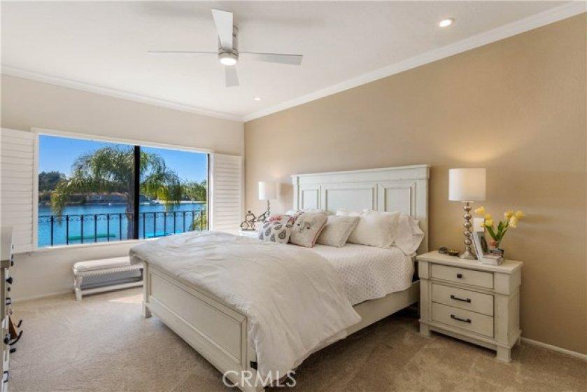 Master Bedroom with resort feel lakeside