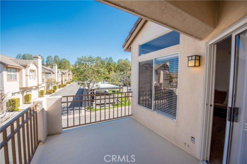 Private patio/balcony.