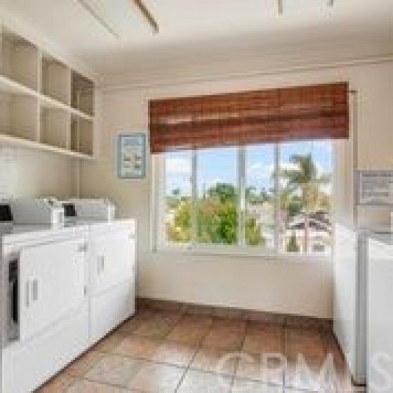 The extra clean laundry room.