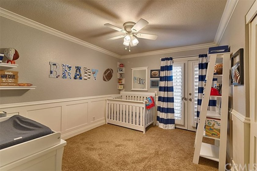Custom wall moldings, and paint decor.