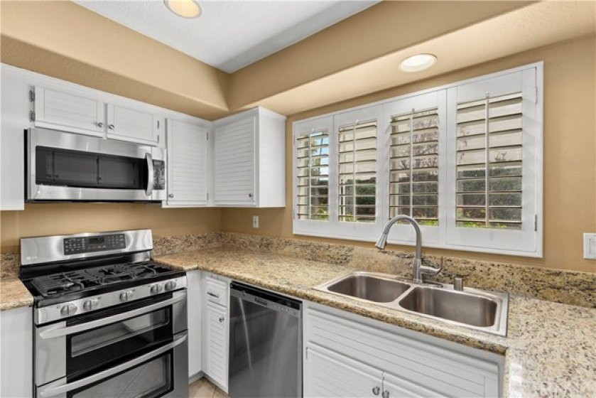 Stainless Appliances and New Granite Counters
