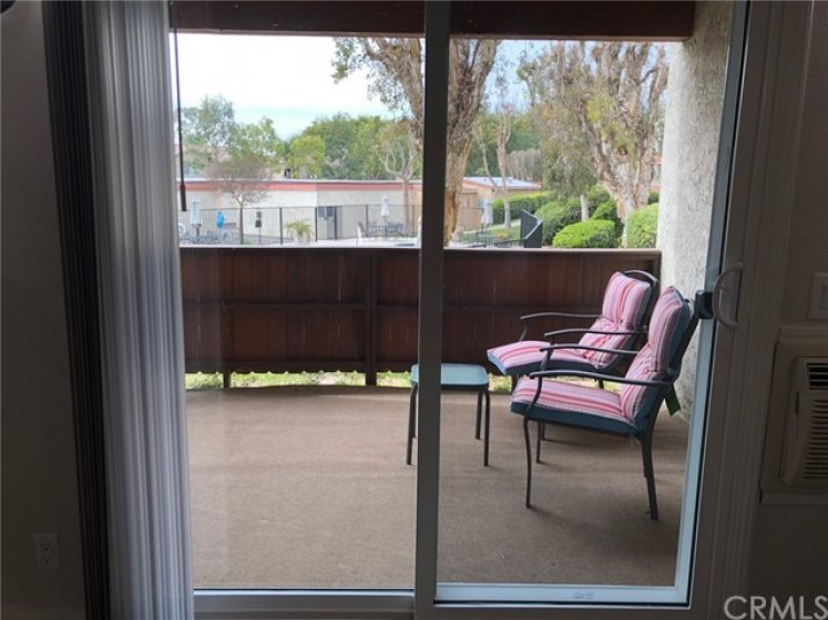 Sliding door connecting to front patio