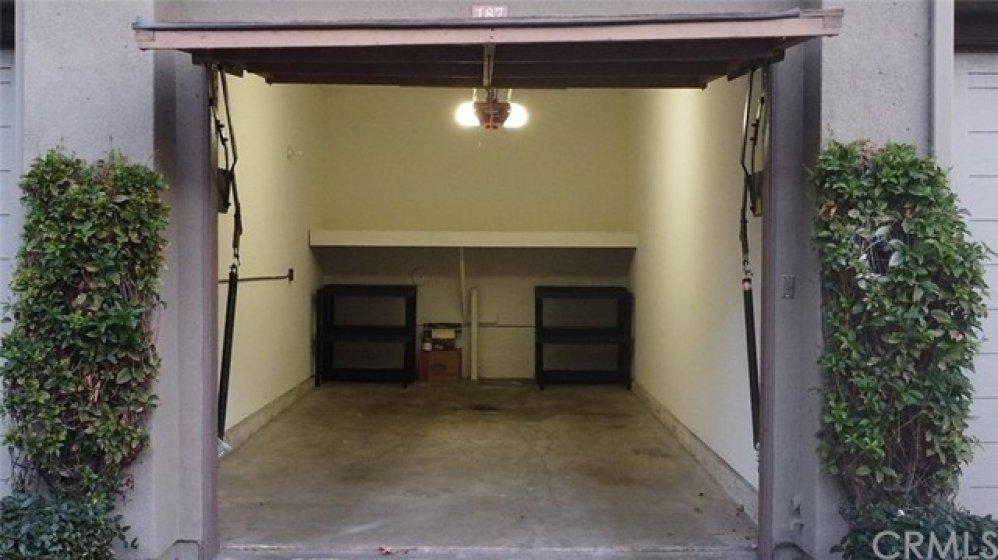 1 car garage space #187