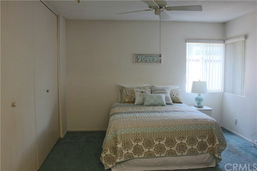 Master Bedroom--A wall of closet space.