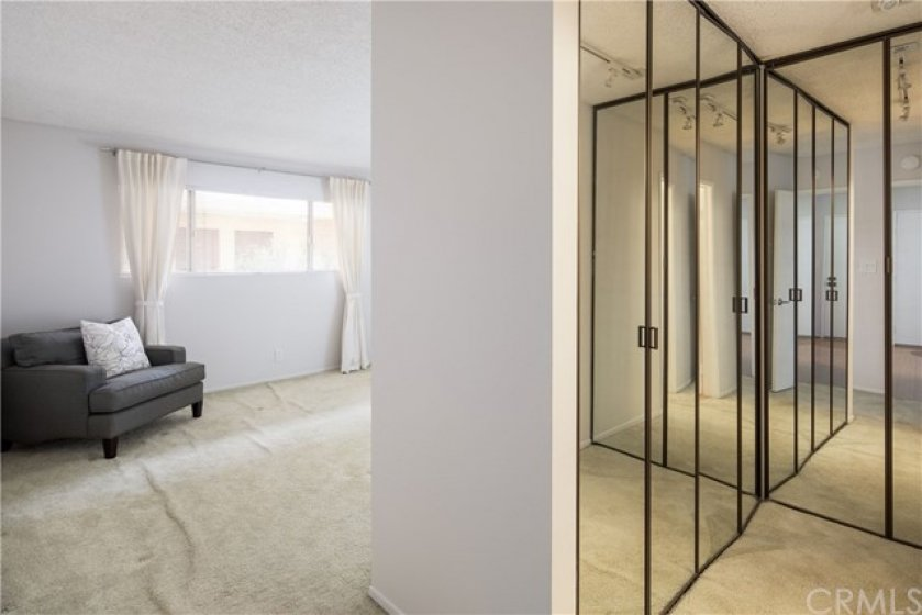 Master bedroom, closet area