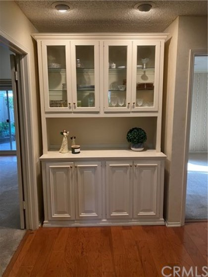 Custom cabinet at end of hallway