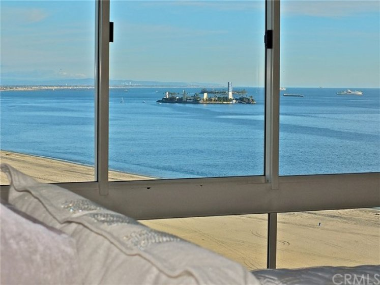 Sand and ocean views from the spacious master bedroom retreat