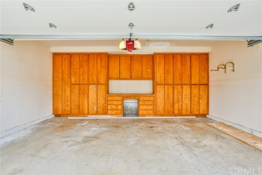 Lots of built-in storage in the garage