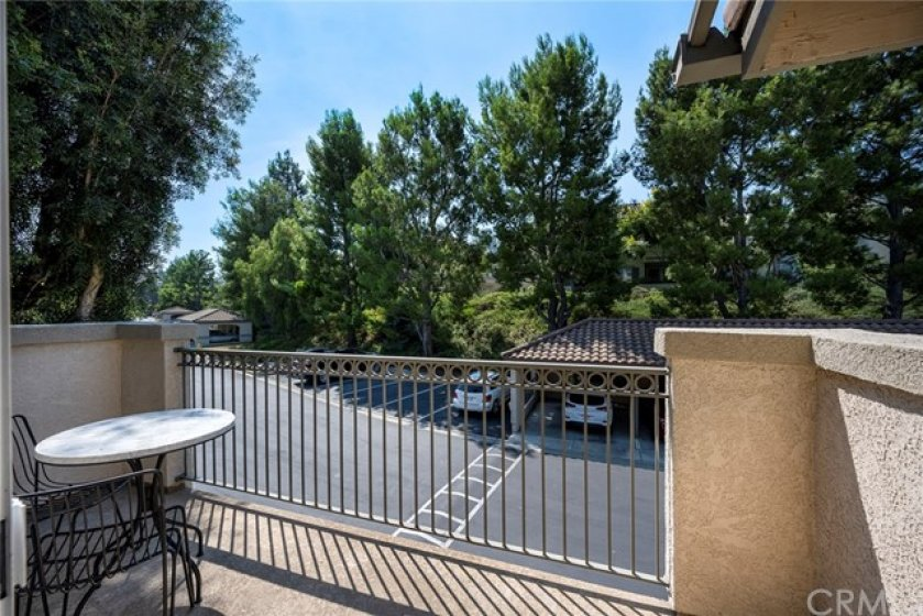 Private balcony off the Living Room is perfect for an outdoor table and chairs and BBQ!