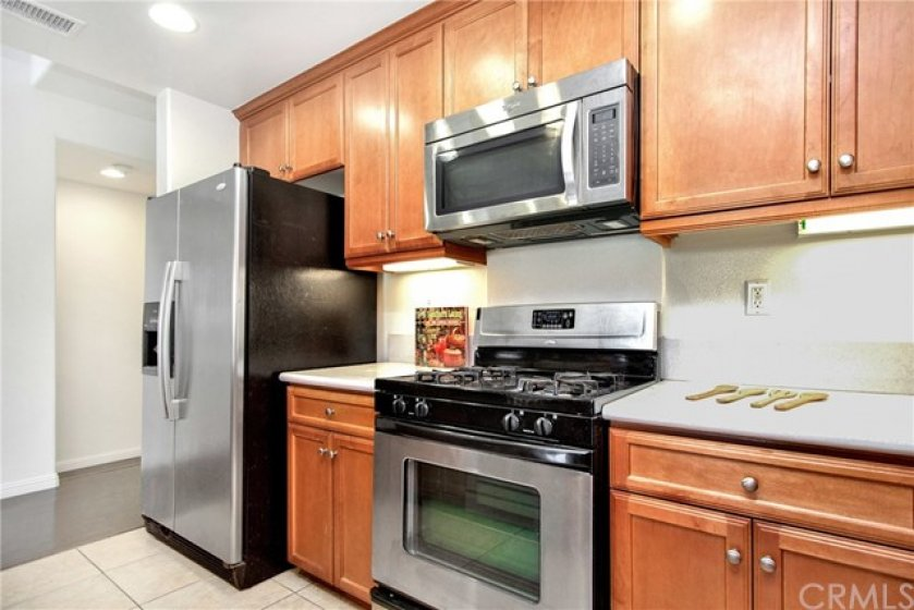 beautiful kitchen and stainless steel appliances