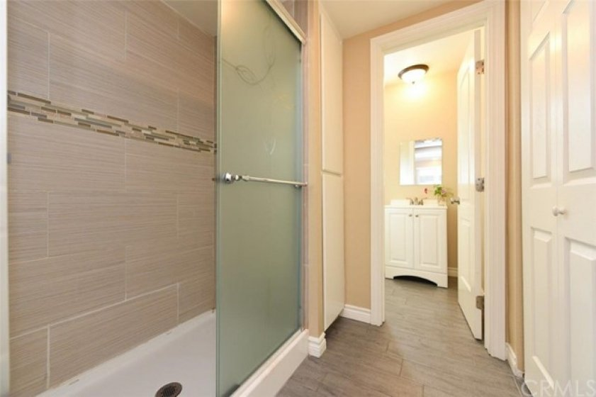 Downstairs shower and bathroom