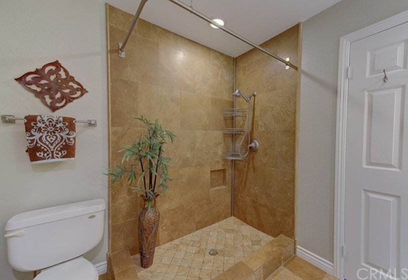 Master bath with walk-in shower.