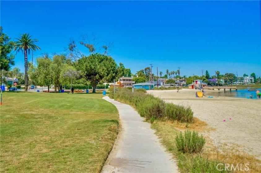 Marina Vista Park and Colorado Lagoon.