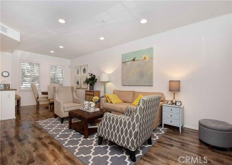 Enter onto newer laminate flooring!