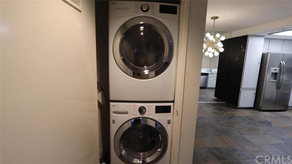 Washer & dryer inside laundry closet