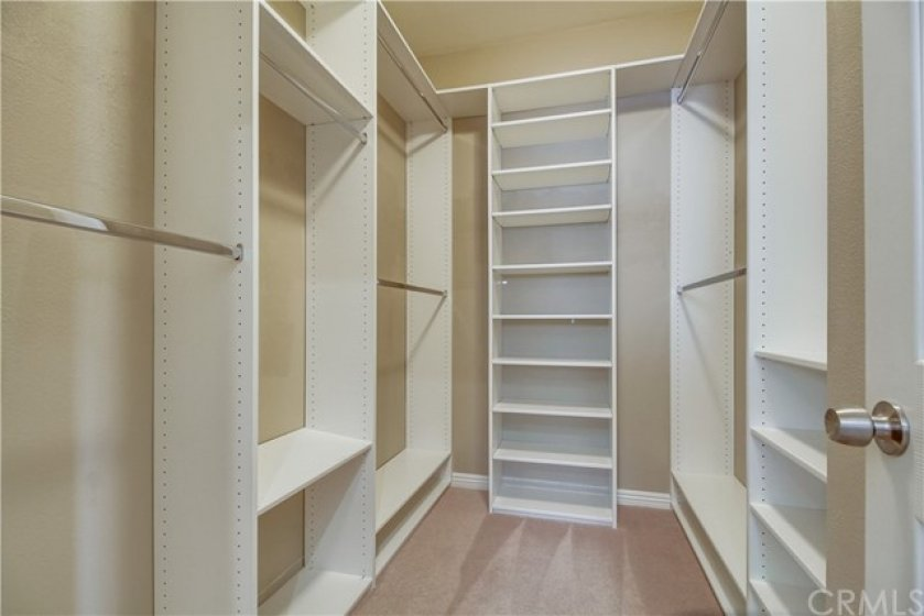 Large Closet with Custom Organizer
