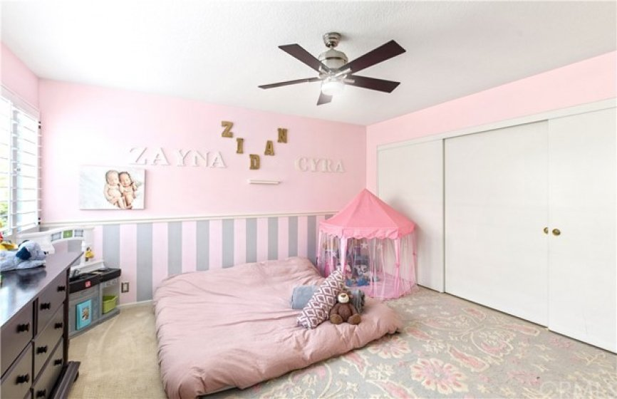 A very large 2nd bedroom suite, with a 3 door closet. A full bathroom is attached.