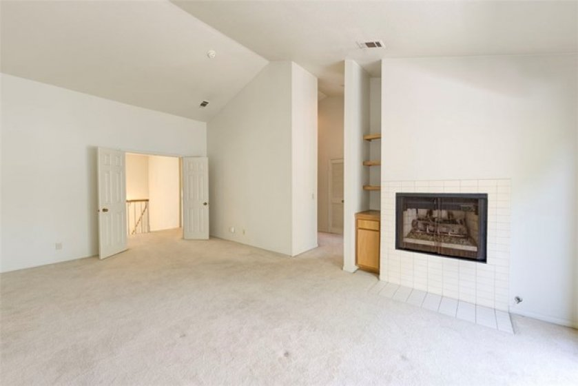 Double-door entry to master! With vaulted ceilings!
