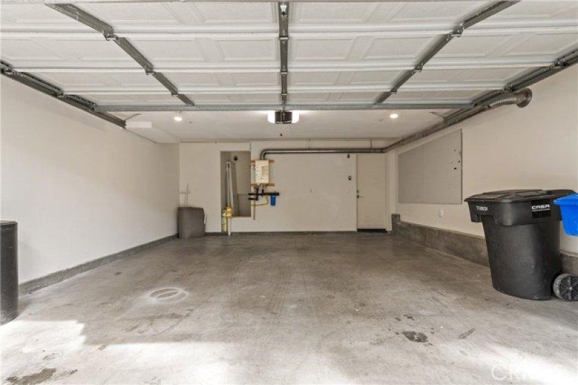 2 car Garage with brand-new garage motor