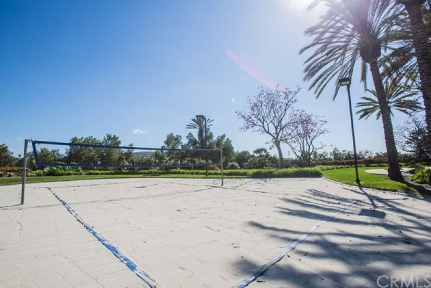 The club sand volleyball courts.