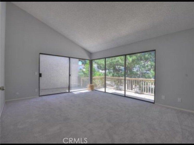Huge Master bedroom that opens to large deck.